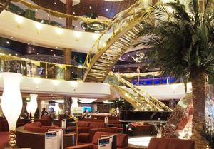 cruise reception desk & lounge