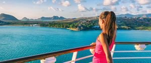 girl relaxing on cruise