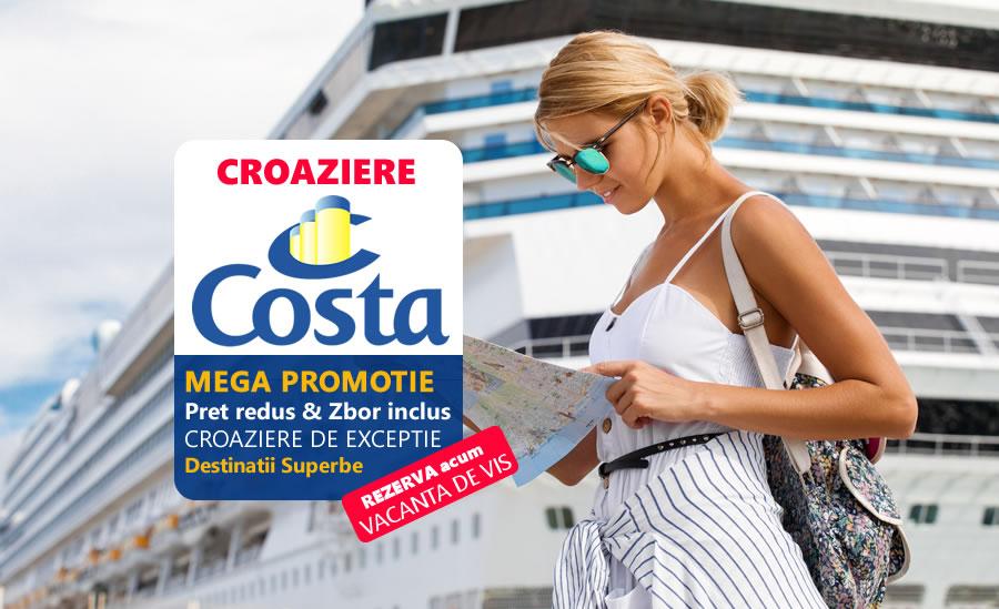 Promotie: Croaziere Costa la preturi reduse & zbor inclus